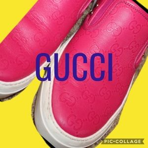 Pink Gucci Tennis Shoes size 39/9